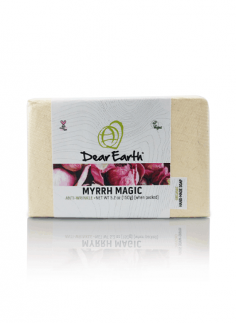 Dear Earth Myrrh Magic Anti-wrinkle Organic & Vegan Soap, 150g Pack of 2