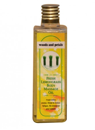 Woods and Petals Lemongrass Body Massage Oil