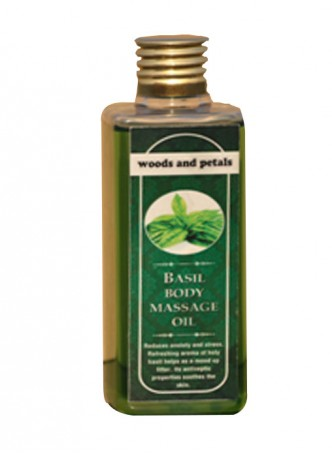 Woods and Petals Basil Body Massage Oil