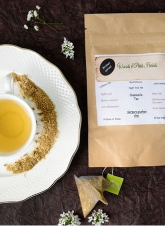 Woods and Petals Chamomile Tea-10 Pyramid Tea Bags (Pack of 2)
