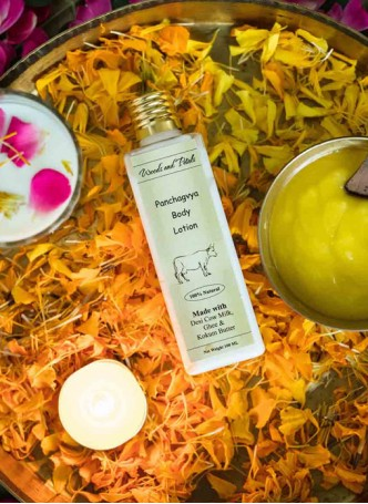 Woods and Petals Handmade Panchgavya Body Lotion (Pack of 2)