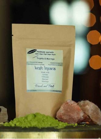 Woods and Petals Ayurvedic Handmade Anti hair fall Triphla Moringa hair pack (Pack of 2)