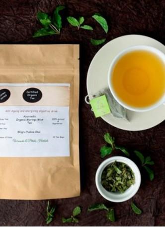 Woods and Petals Organic Moringa Mint Tea (Pack of 2)