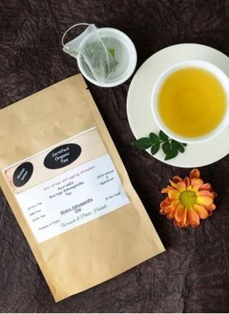Woods and Petals Organic Moringa Ashwagandha Tea (Pack of 2)