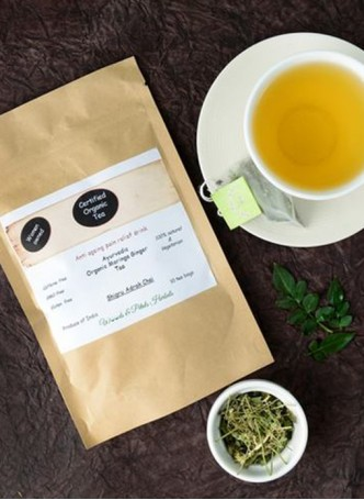 Woods and Petals Organic Moringa Ginger Tea (Pack of 2)
