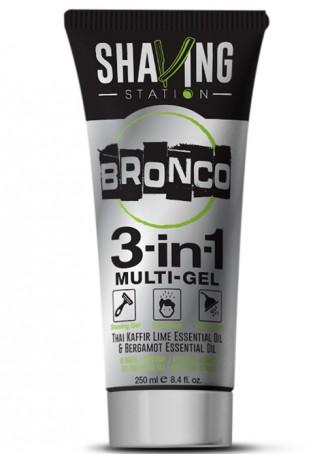 Shaving Station - Bronco 3 in 1 Gel ((Pack of 2)