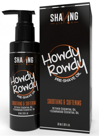 Shaving Station by WOW - Howdy Rowdy Pre Shave Oil - 50ml (Pack of 2)