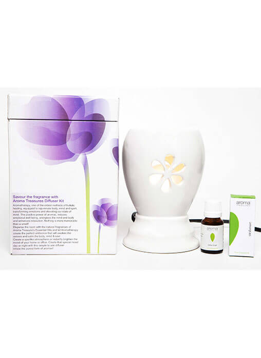 Aroma Treasures White Lemon Grass Oil Electric Diffuser