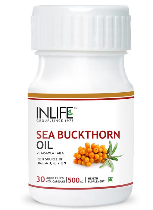 Inlife Sea Buckthorn Oil - Omega 7 3 6 9 30 Veg Caps