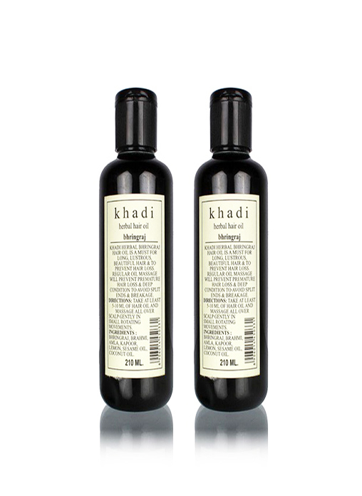 Khadi Natural Bhringraj Hair Oil - 210ml Set Of 2
