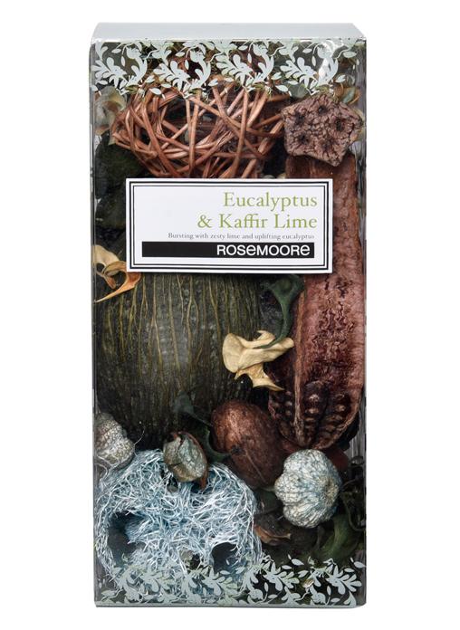 Rosemoore Multi Colour Eucalyptus and Kaffir Lime Box Scented Pot Pourri