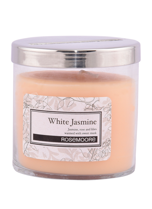 Rosemoore White Jasmine Scented Glass Candle Small