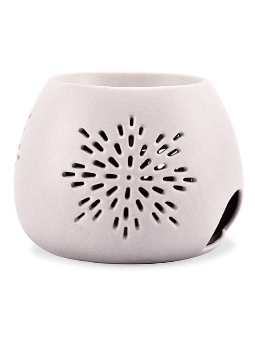 Rosemoore Beige Taupe Round Shape Oil Burner Ceramic