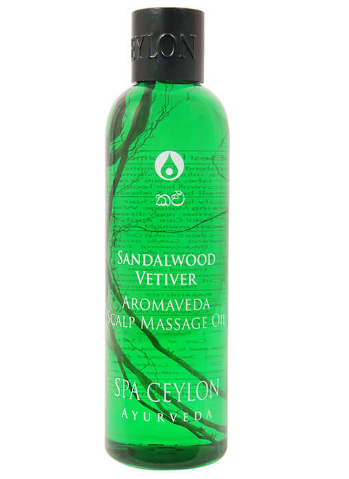 Spa Ceylon Sandalwood Vetiver Scalp Massage Hair Oil