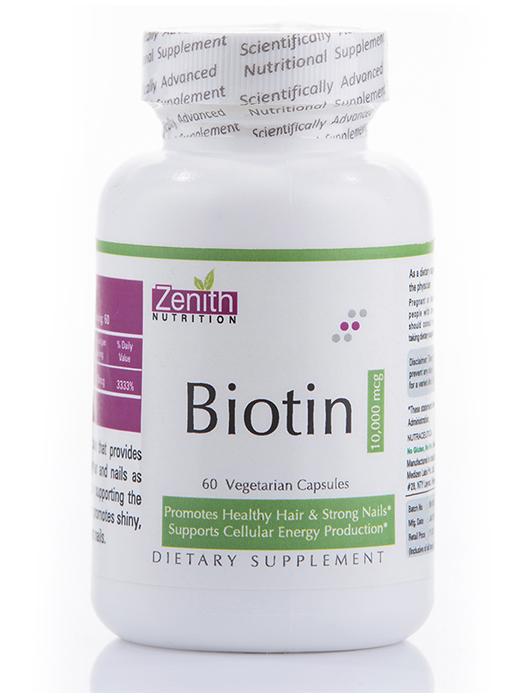 Zenith Nutritions Biotin 10000 mcg
