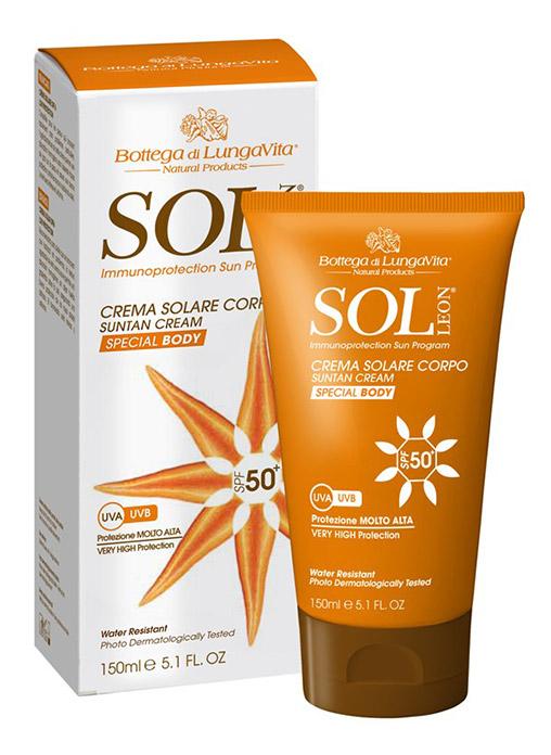Bottega Di Lungavita SOL LEON Suntan Cream Body SPF 50