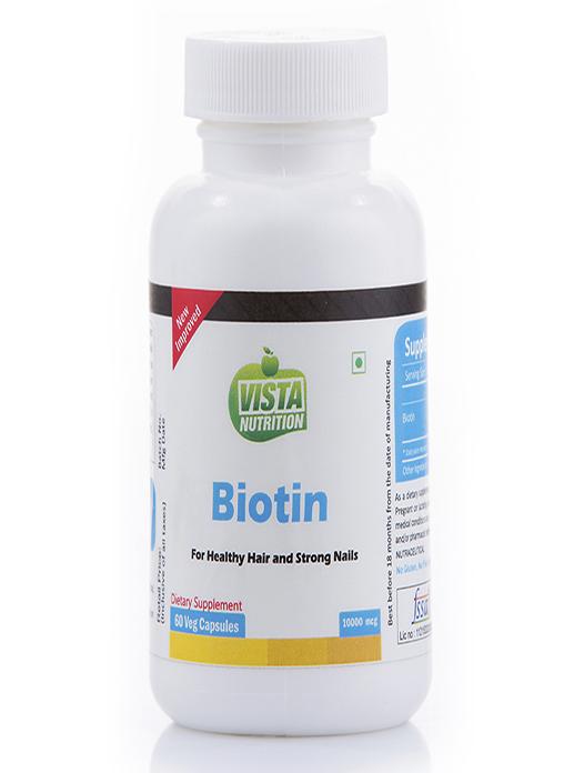 Vista Nutrition Biotin 10000 mcg – 60 capsules