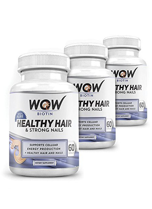 Wow Biotin Healthy Hair And Strong Nails - Pack Of 3