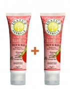 Inatur Strawberry Face Scrub 75g (Pack of two)