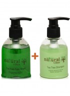 Natural Vibes Ayurvedic Tea Tree Face Wash And Shampoo Everyday Treatment